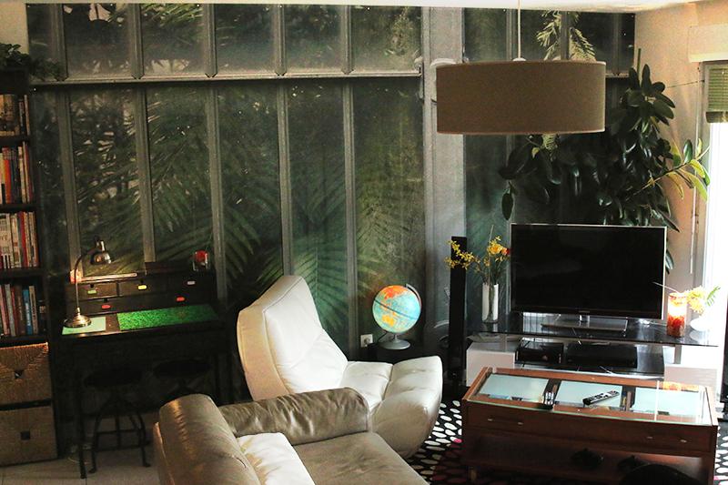 Poster panoramique serre végétale