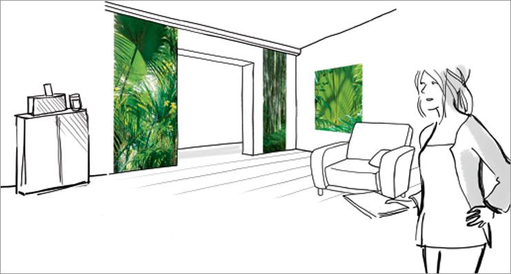 Décor d'espace vert palme