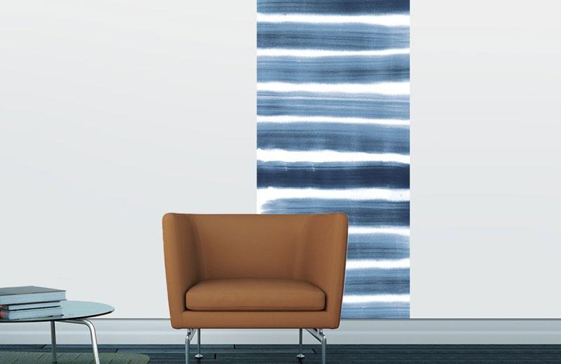 Aquarelle motifs bleu gris
