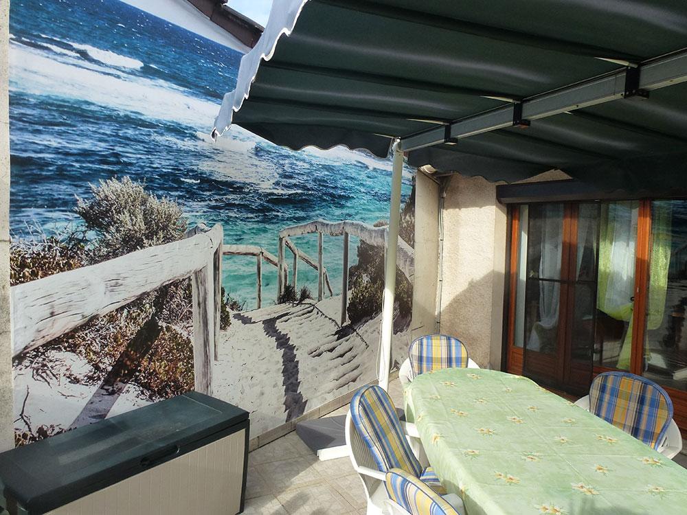 D co terrasse chez pascal trompe l 39 oeil plage for Decoration trompe l oeil