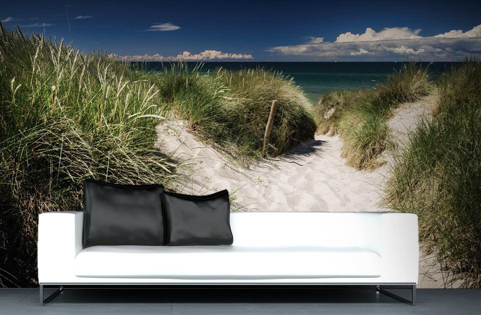 Chemin de sable qui mène à l'océan Atlantique