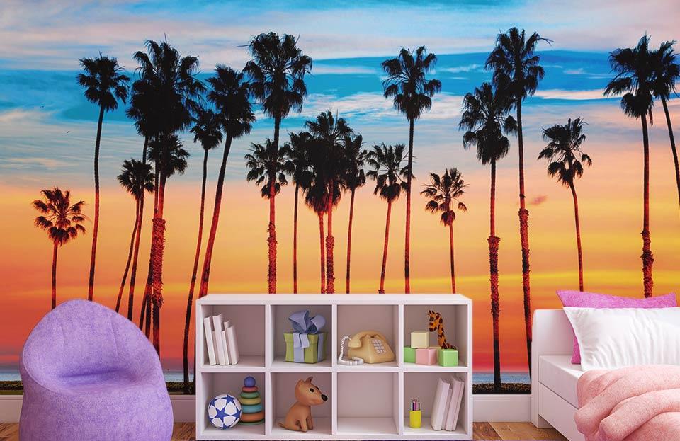 Palmiers sur la plage de SANTA MONICA