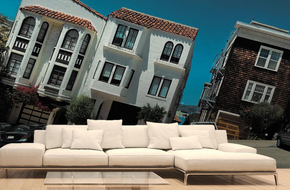 Les maisons penchées de San Francisco