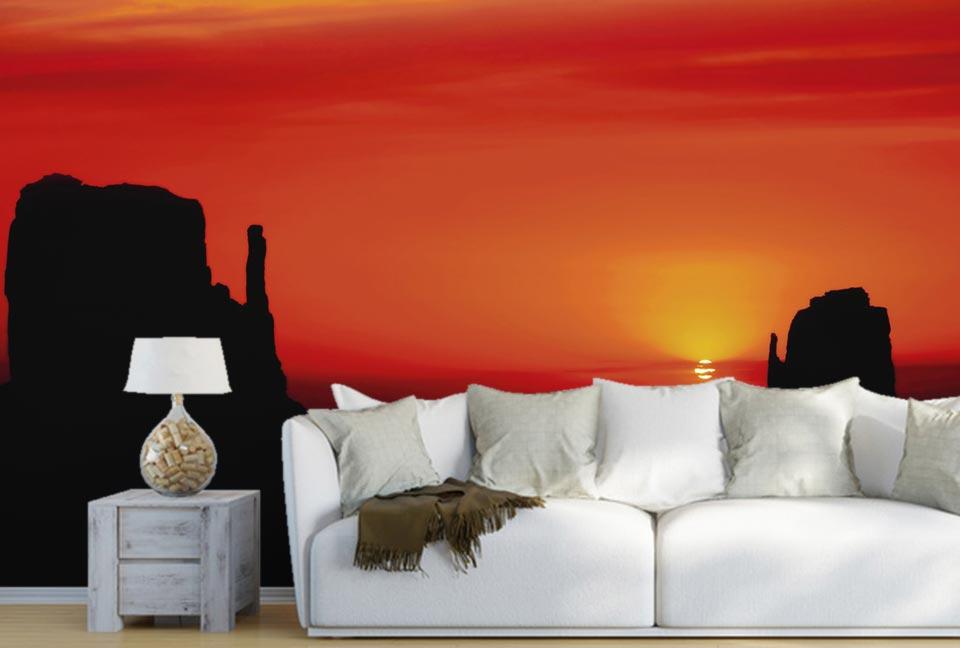Coucher de soleil sur Terre Navajo