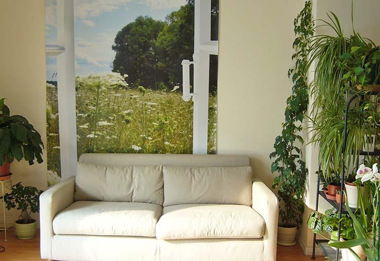 trompe l 39 oeil fen tre ouverte une d co qui respire et. Black Bedroom Furniture Sets. Home Design Ideas