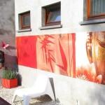 ZEN sur la terrasse : Red buddha