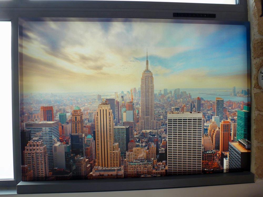 D co veranda un tableau sur le fen tre - Tableau toile new york ...