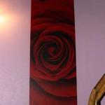 Une rose dans mon escalier