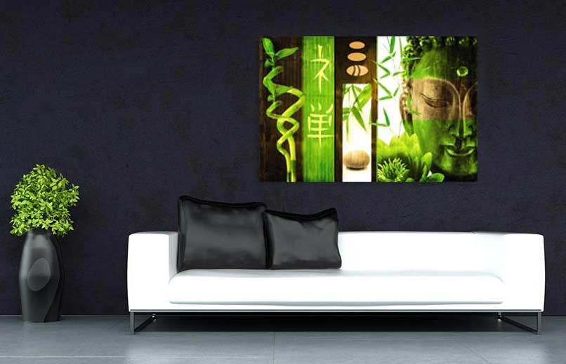 zen id es d coration murale m ditation avec buddha. Black Bedroom Furniture Sets. Home Design Ideas