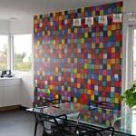 Papier peint pour une cuisine colorée et design