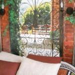 Un jardin espagnol en tête de lit