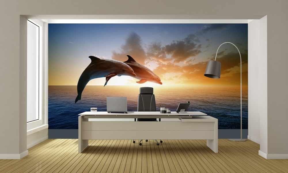 Papier peint dauphins