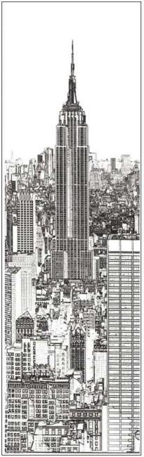 Coloriage géant new york