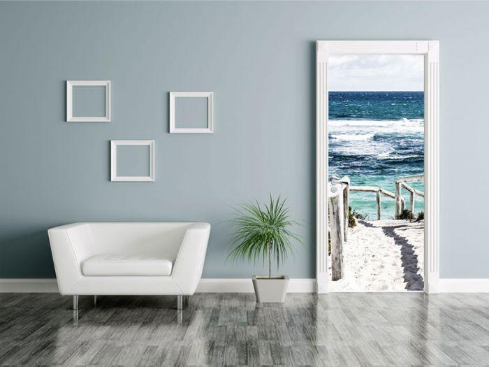 poster de porte plage et sable