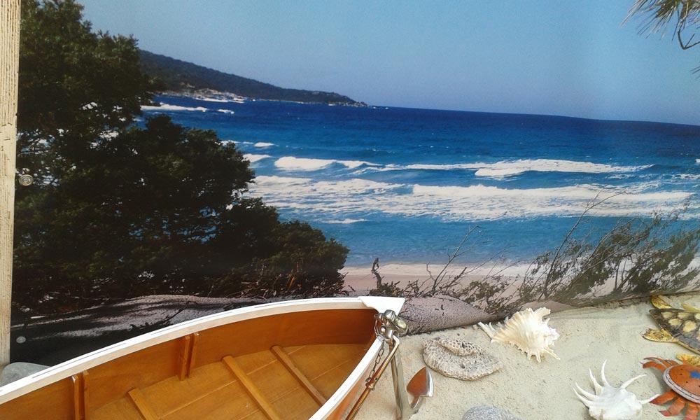 Mise en scène brise vue plage