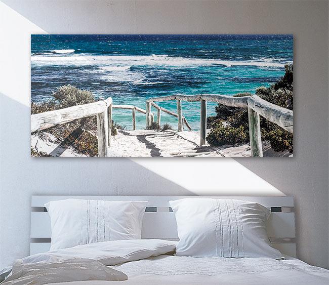 t te de lit id e d co originale en papier peint et claustra. Black Bedroom Furniture Sets. Home Design Ideas