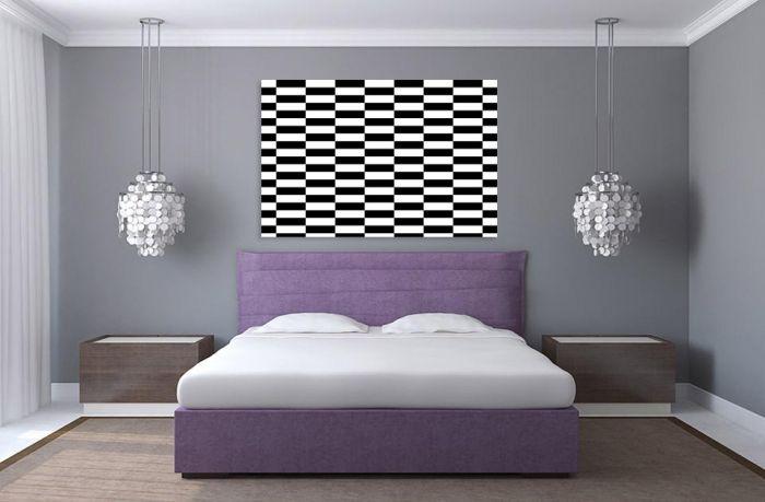 La décoration moderne noir et blanc