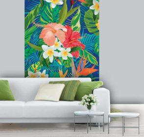 Papier peint floral coloré