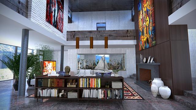 Salon décoré et design