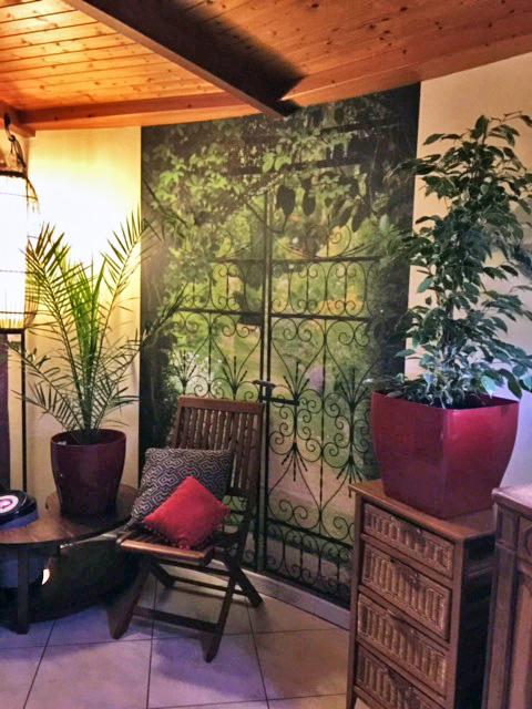 Papier peint Jardinet en intérieur