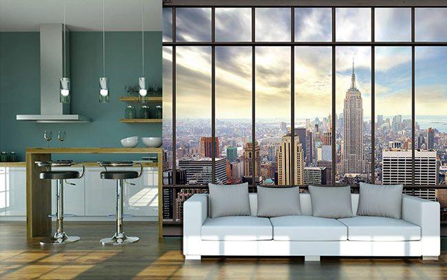 papier peint vue sur New York