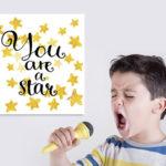 La typographie pour décorer une chambre d'enfant