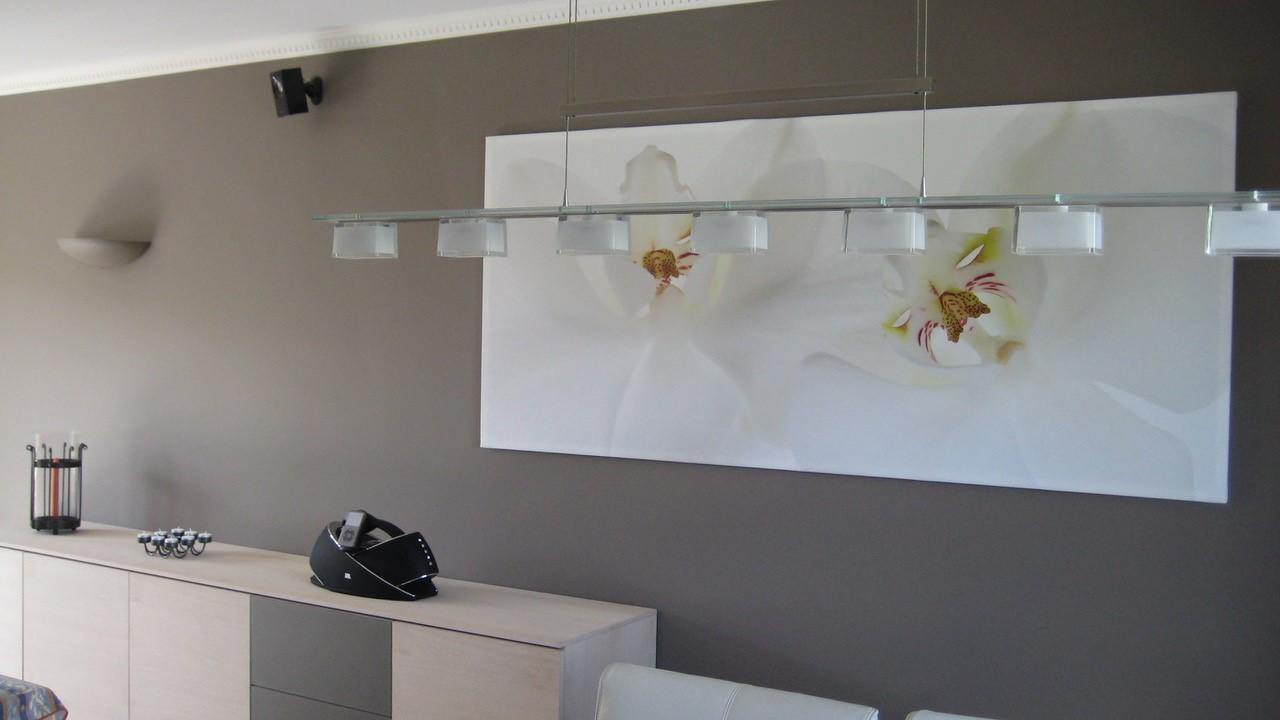 Tableau orchidée blanche chez Edward