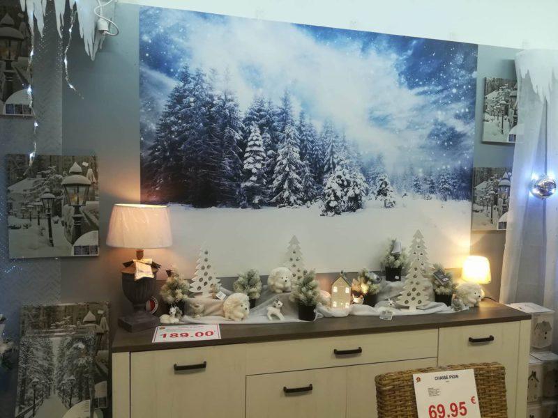 Poster forêt enneigé pour Noël