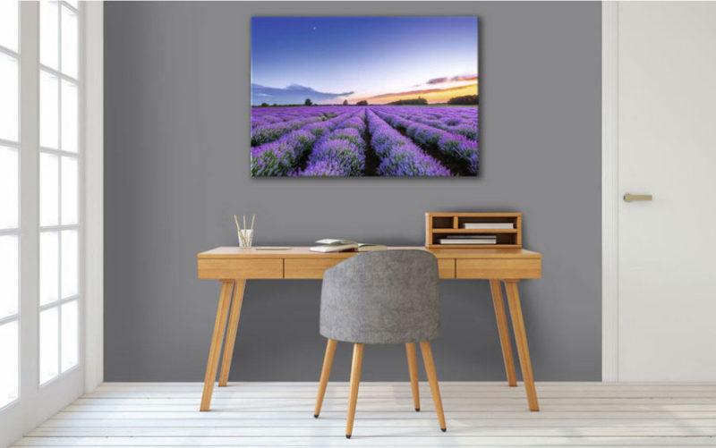 Parfum de l'aube, tableau déco violet