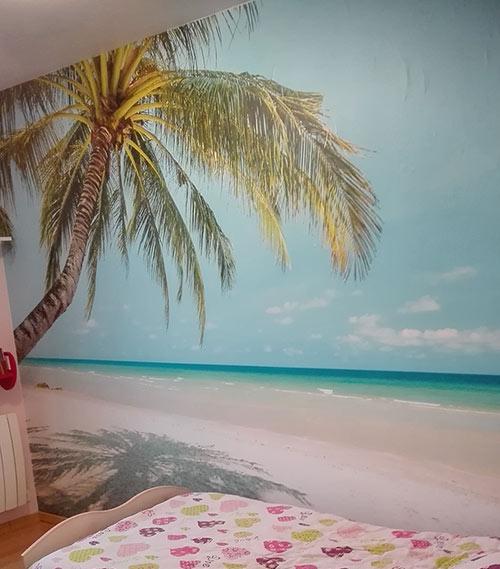 papier peint plage