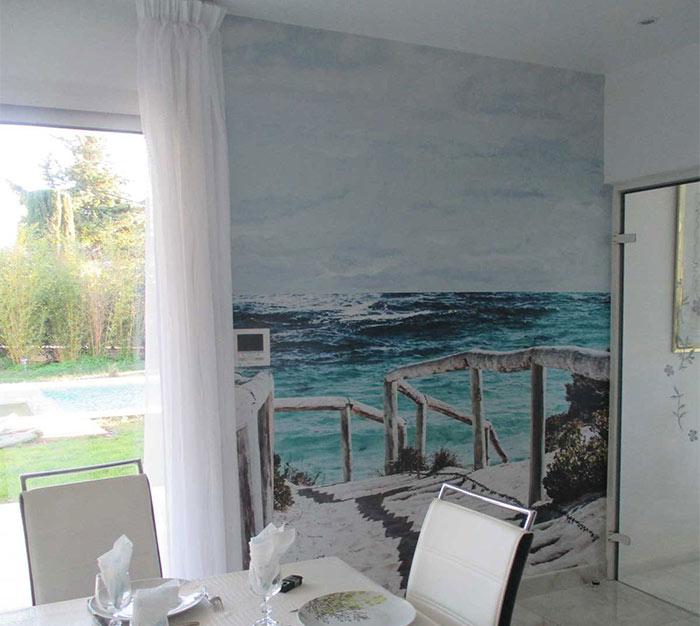 papier peint vue sur la mer