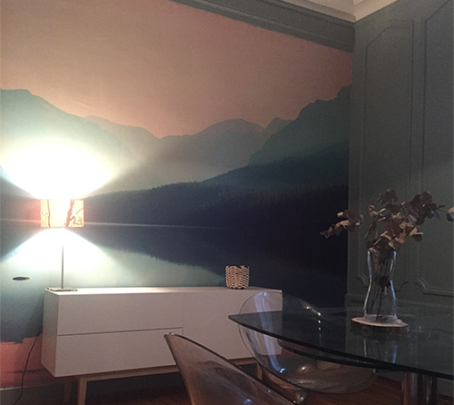 papier peint montagne
