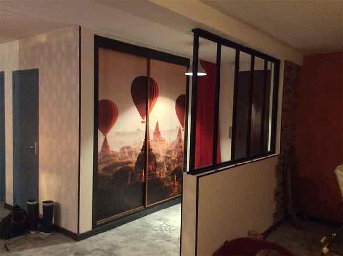 papier peint pour portes coulissanntes