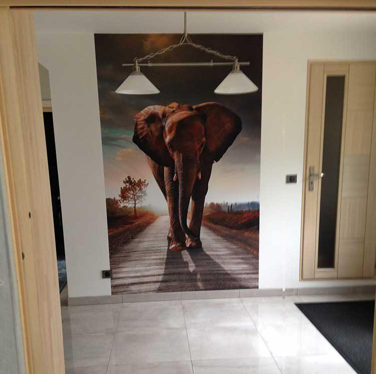 papier peint vertical éléphant