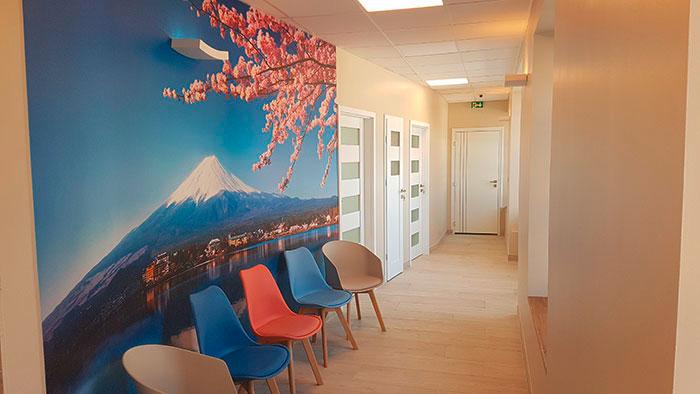 papier peint couloir d'espace accueil