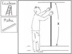 mesurer un lé de papier peint