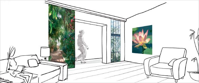 Jardin en ville : déco végétale murale
