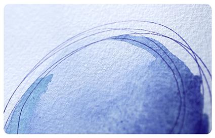 Aquarelle rond bleu