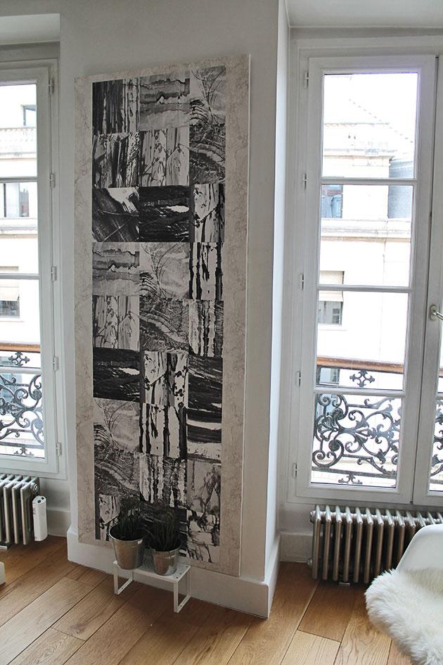 Papier peint CARRARE marbre noir