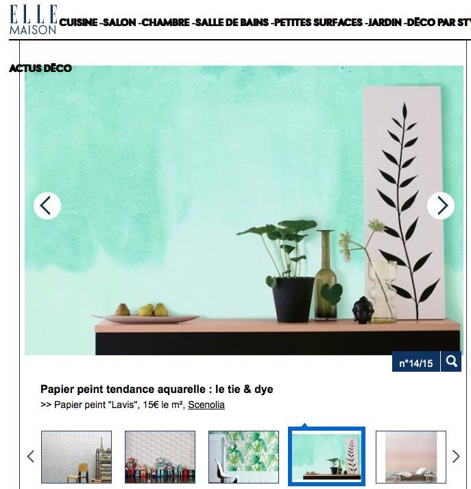 Papier peint aquarelle Lavis