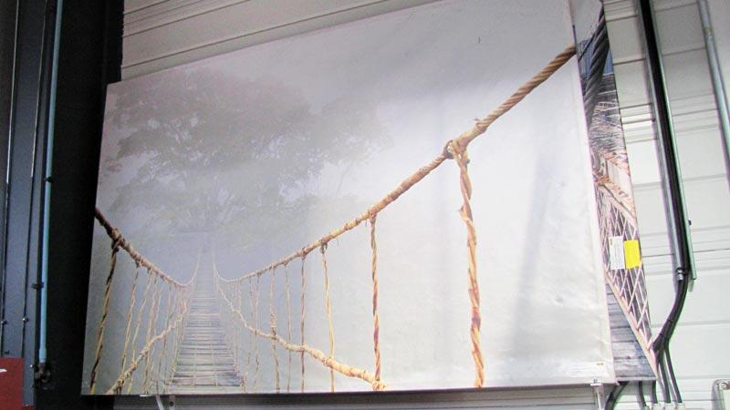 Modèle d'impression d'une toile grand format