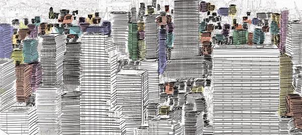 Déco ville en livre