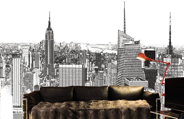 New York en dessin noir et blanc