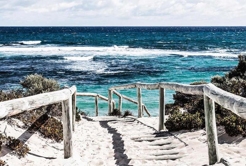 Trompe-l'œil chemin sur la plage