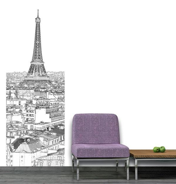 déco Tour Eiffel noir et blanc