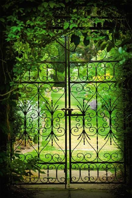 Trompe-l'oeil jardin d'été