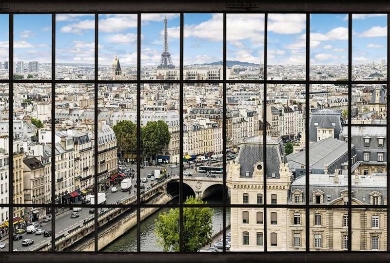 Trompe-l'œil panorama Paris