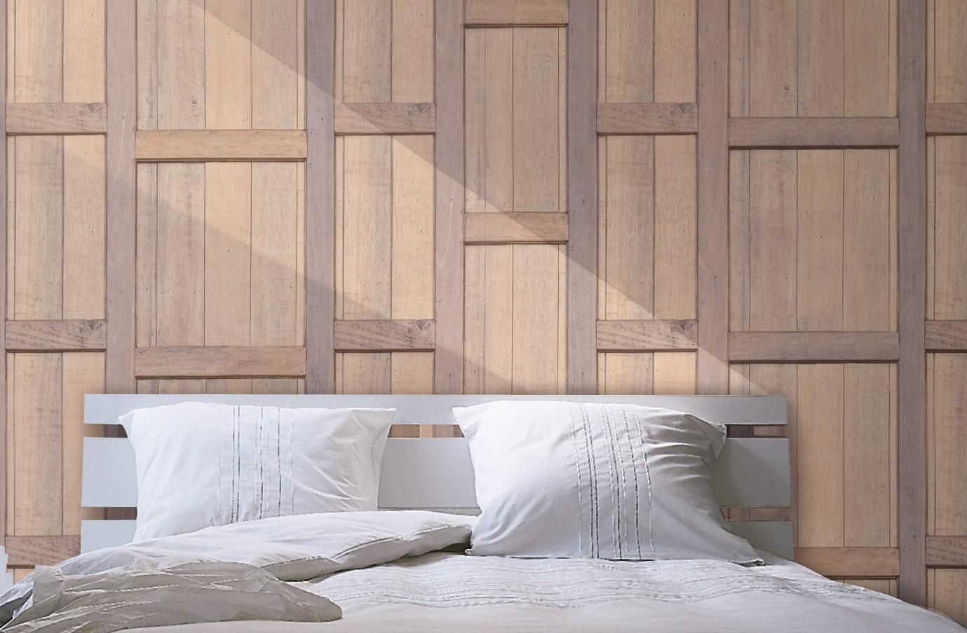 Tête de lit en bois acajou