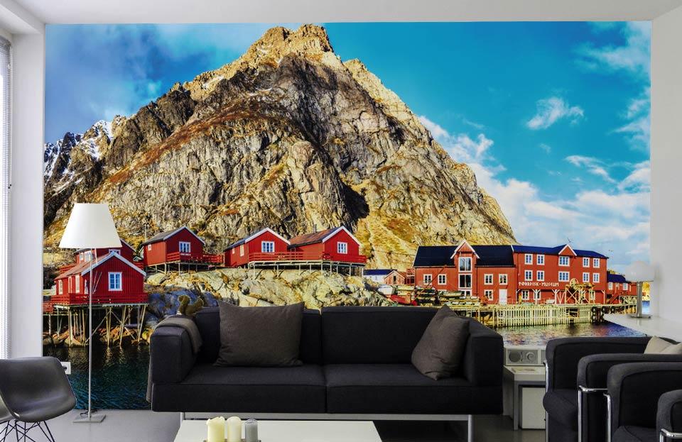 Décor des îles Lofoten