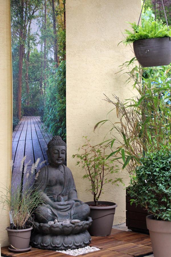 Bouddha et terrasse déco